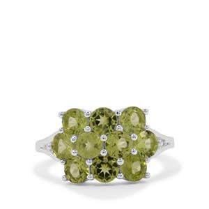 2.85ct Red Dragon Peridot Sterling Silver Ring
