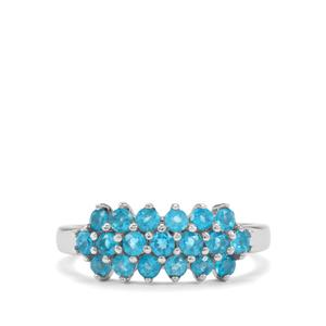 1.03ct Neon Apatite Sterling Silver Ring