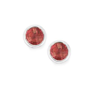 0.90ct Pink Tourmaline Sterling Silver Earrings