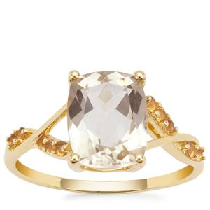 Serenite Ring with Diamantina Citrine in 9K Gold 2.96cts