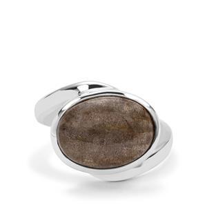 6ct Labradorite Sterling Silver Aryonna Ring
