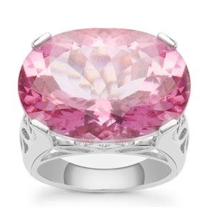 20.70ct Pure Pink Topaz Sterling Silver Ring
