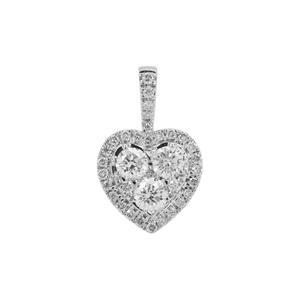 1/2ct Diamond Platinum 950 Tomas Rae Heart Pendant