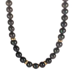 Kaori Cultured Pearl Necklace in Sterling Silver (8.50x8mm)