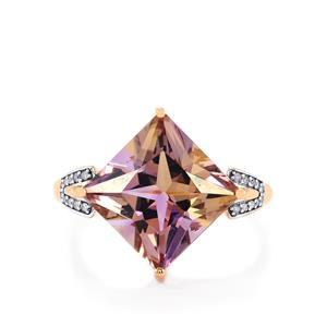 Anahi Ametrine Ring with Diamond in 9K Rose Gold 6.12cts