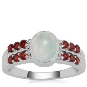 Aquaprase™ Ring with Rajasthan Garnet in Sterling Silver 1.77cts
