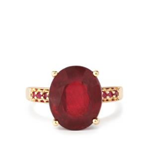 Malagasy Ruby Ring in 10K Gold 9.89cts (F)
