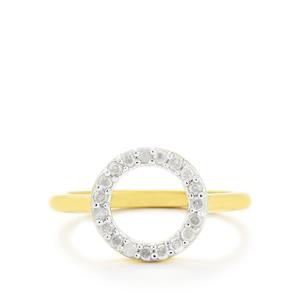 1/4ct Diamond Gold Vermeil Ring