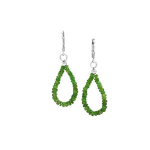Chrome Diopside Earrings in Sterling Silver 11.50cts