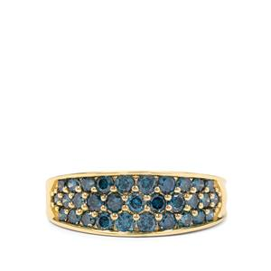 1ct Blue Diamond 9K Gold Tomas Rae Ring