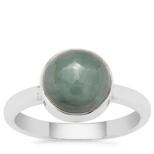 Burmese Jade Ring in Sterling Silver 3.30cts
