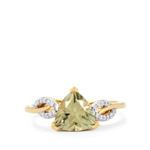 Csarite® Ring with Diamond in 18k Gold 2.12cts