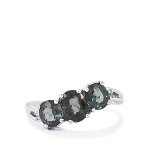 Natural Burmese Spinel Ring with White Zircon in Sterling Silver 2.61cts