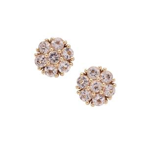 1.34ct Cherry Blossom™ Morganite 9K Gold Earrings