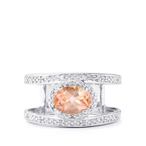 Galileia Topaz Ring with White Topaz in Sterling Silver 1.53cts