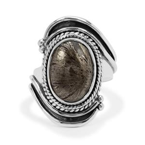 Feather Pyrite Ring in Sterling Silver 7.50cts