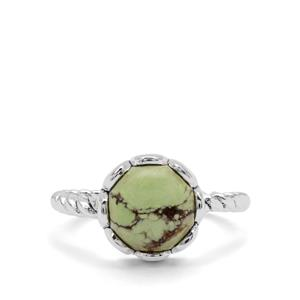 4.50ct Queensland Chrysoprase Sterling Silver Aryonna Ring