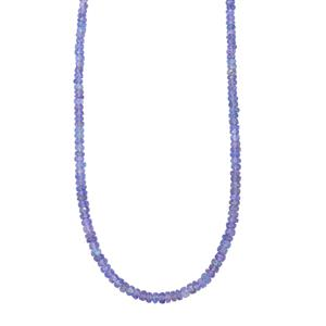 Tanzanite Graduated Bead Necklace with Magnetic Lock in Sterling Silver 54cts