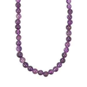 Zambian Amethyst Graduated Bead Necklace 120cts