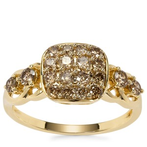 Argyle Diamond Ring in 9K Gold 0.77ct