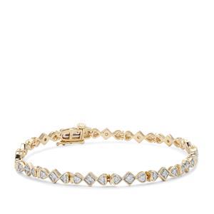 Argyle Diamond Bracelet in 9K Gold 1cts