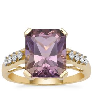 Anahi Ametrine Ring with White Zircon in 9K Gold 3.95cts