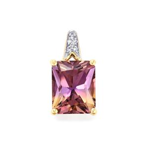 Anahi Ametrine Pendant with Diamond in 9K Gold 4.20cts
