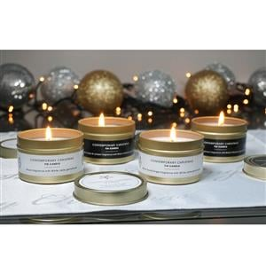 Set of 4 Tinned Candles