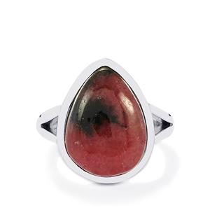 Australian Rhodonite Ring in Sterling Silver 12cts