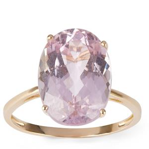 Kunzite Ring in 9K Gold 7.38cts