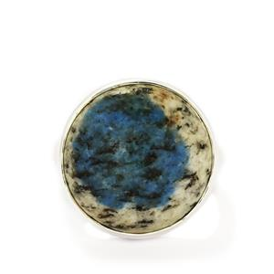 15.03ct K2 Azurite Sterling Silver Aryonna Ring