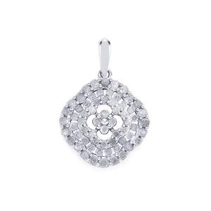 1ct Diamond Sterling Silver Pendant