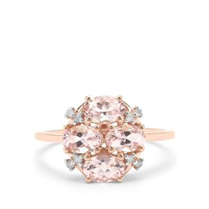 Cherry Blossom™ Morganite Ring with Diamond in 9K Rose Gold 1.66cts