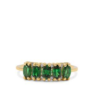 Tsavorite Garnet & Diamond 9K Gold Ring ATGW 1.25cts
