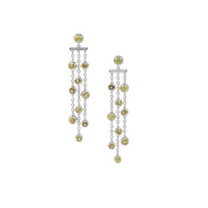 Ambilobe Sphene Tassel Earrings in Sterling Silver 4.87cts
