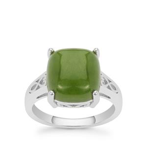 Nephrite Jade Ring in Sterling Silver 6.55cts