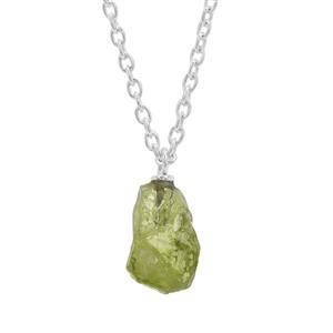 Suppatt Peridot Necklace in Sterling Silver 6.98cts