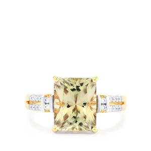 Csarite® Ring with Diamond in 18k Gold 3.77cts