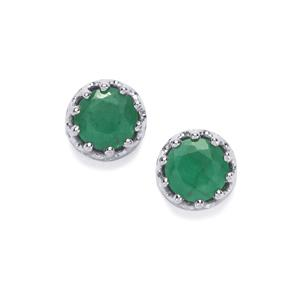 Sakota Emerald Earrings  in Sterling Silver 1.15cts