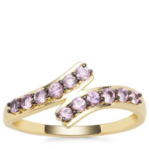 Sakaraha Pink Sapphire Ring in 9K Gold 0.55ct