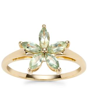 Alexandrite Ring in 9K Gold 0.66ct