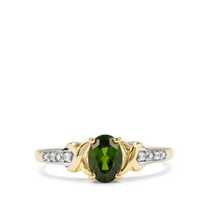 Chrome Diopside & White Zircon Midas Ring ATGW 0.91cts