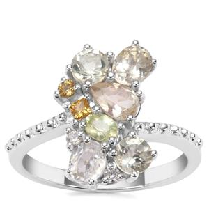 2.03ct Sunrise Sterling Silver Shades Ring