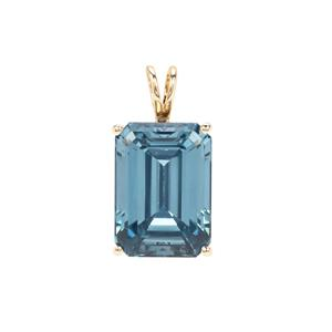 Versailles Topaz Pendant in 9K Gold 21.89cts
