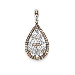 1/2ct Multi-Colour Diamond Sterling Silver Pendant
