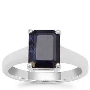 Madagascan Blue Sapphire Ring in Sterling Silver 3.55cts