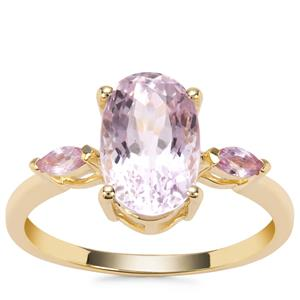 Kolum Kunzite Ring with Sakaraha Pink Sapphire in 9K Gold 3.43cts