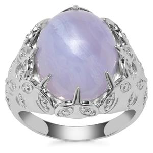 Blue Lace Agate Ring in Sterling Silver 8.40ct