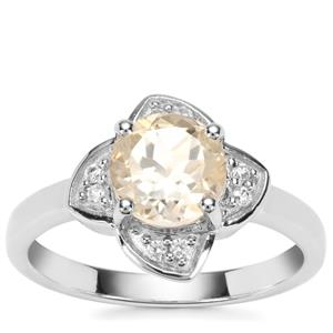 Serenite Ring with White Zircon in Sterling Silver 1.34cts