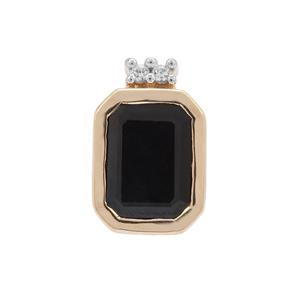 Ethiopian Blue Sapphire Pendant with White Zircon in 9K Gold 1.91cts
